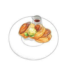 모노클 작업. 🍽 #일러스트 #그림 #푸드일러스트 #스테이크 #카레 #illust #illustration #foodillustration #steak #curry #drawing Food Cartoon, Food Drawing, Food Illustrations, Food Art, Breakfast, Tableware, Cake, Sticker, Happiness