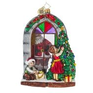 Christopher Radko Ornaments Preparing for Christmas Santa and Toys