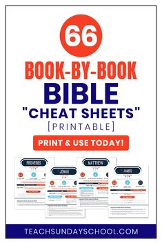 "Sunday School Lesson Ideas: One Page Printable ""Cheat Sheets"" to Help Guide Y. Bible Study Notebook, Bible Study Guide, Scripture Study, Bible Prayers, Bible Scriptures, Bible 2, Bible Qoutes, Bible Activities, Bible Knowledge"