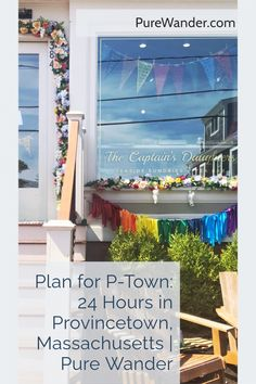 There's never enough time in the day to fully appreciate #Provincetown, Massachusetts. This colorful town on just the tip of Cape Cod welcomes all walks of life to fully be themselves and celebrate simply being alive! Regular shopping, dining and beach lounging opportunities are abound, alongside a thriving nightlife scene full of animated drag shows, pool parties, and more. #travel #itinerary Usa Travel, Luxury Travel, Provincetown Massachusetts, Mid Atlantic States, Commercial Street, San Francisco Travel, Pool Parties, Group Travel, Travel With Kids