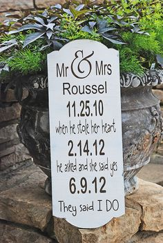 Custom Wedding Signs  22 x 8.5 HAND PAINTED PERSONALIZED Free Mr and Mrs champagne tags on Etsy, $44.95
