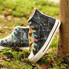 Galaxy Converse shoes Custom Converse Galaxy by Kingmaxpaints