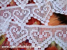 Lisa Kay Dodd posted no pattern but you can figure it out from the pictures to her -Crochet - bad links- postboard via the Juxtapost bookmarklet. Crochet Blanket Edging, Crochet Edging Patterns, Filet Crochet Charts, Crochet Lace Edging, Crochet Motifs, Crochet Borders, Thread Crochet, Lace Knitting, Crochet Doilies