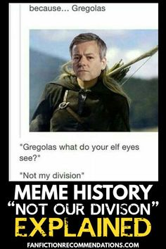 This line, simple yet expressive, exploded into a popular meme that then transcended the boundaries of fandom and crossed over into the mainstream. The mainstream? You read that right. Let's dive into this one. Where did Not Our Division! come from?