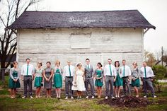 teal and gray wedding party | vintage bridal party teal and grey | Weddings. Fairytales. Love.