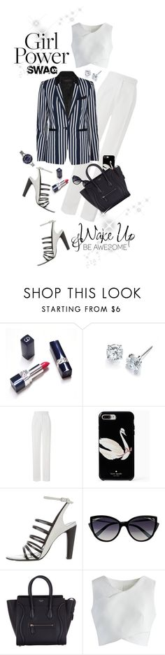 """""""What's Your Power Look?"""" by shortyluv718 ❤ liked on Polyvore featuring WALL, Amanda Wakeley, Kate Spade, 3.1 Phillip Lim, La Perla, CÉLINE, Chicwish, SO & CO and MyPowerLook"""