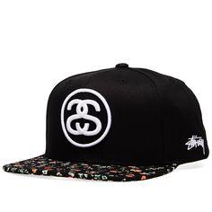 4497cd5ae4b Stussy Neon Flower Cap (Black)
