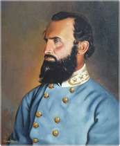 "Thomas ""Stonewall"" Jackson (1824-1863) Born in Clarksburg, West Virginia. He was a Confederate general and won at the First Battle of Bull Run during the Civil War. He was accidentally killed by one of his own men at Chancellorsville."
