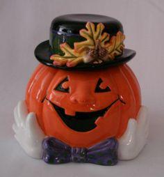 Pumpkin Cookie Jar by Fitz & Floyd