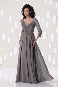 A-Line/Princess V-neck Floor-length Chiffon Mother Of The Bride Dress Mother of the Groom dress? Mother Of Groom Dresses, Bride Groom Dress, Mothers Dresses, Mother Of The Bride Gowns, Mob Dresses, Bridesmaid Dresses, Formal Dresses, Dresses 2014, Party Dresses