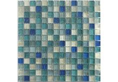 Hammered blue and green glass give a unique fresh aqua look Glitter Grout, Glitter Paint For Walls, Glitter Heat Transfer Vinyl, Glitter Vinyl, Blue Mosaic, Glass Mosaic Tiles, Mosaic Bathroom, Room Tiles, Wall Tiles
