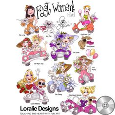 Fast Women Filled Embroidery Design Collection | CD - Embroidery Designs – Loralie Designs