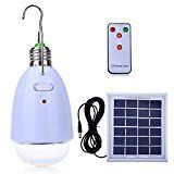 #4: LightMe Multi-functional LED Solar Powered Light E27 12-LED Dimmable Lamp with Remote Controller for Camping Hiking Home Lighting Emergency etc.