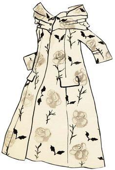 Yves Saint Laurent - Paper Dolls - 1953-55 - Manteau