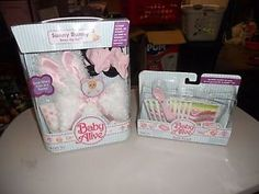 Hasbro Baby Alive food and Sunny Bunny clothing lot, Brand new MISP MOSC