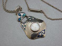 Fabulous Murrle Bennett Co Silver Enamel Pendant | eBay