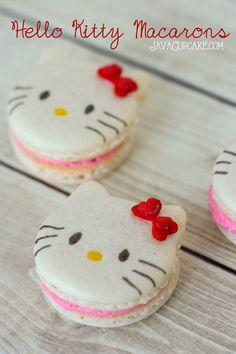 Hello Kitty Macarons - Recipe & Tutorial   JavaCupcake.com