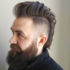 Mohawk cut for men and boys: Mohawk, Faux Hawk, Fohawk and Co. Mohawk Hairstyles Men, Haircuts For Men, Men's Haircuts, Summer Hairstyles, Hipster Bart, Mohawk For Men, Mohawk Cut, Boys Mohawk, Short Mohawk