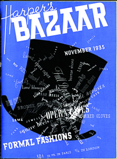 * 1935 cover displaying Brodovitch's Russian roots and passion for photography (Harper's Bazaar)
