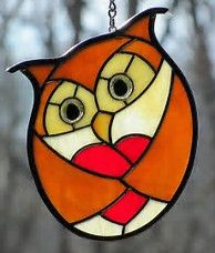 Image result for owls stained glass