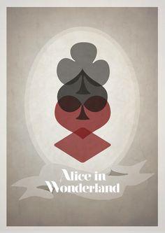 Minimalist Movie Posters - alice in wonderland