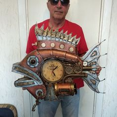 Steampunk Clock, Fish, Decor, Steampunk Watch, Decoration, Pisces, Decorating, Deco