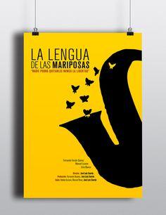 la lengua de las mariposas #cartel #movie #cine #poster #illustration #design #lettering #art