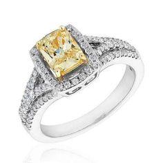 3 Carat Canary Diamond Ring