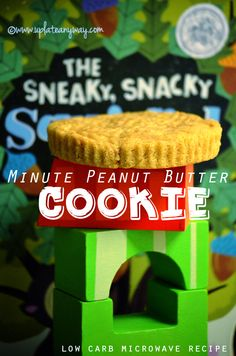 Microwave PB cookie----With peanut butter drizzle 409 Calories; 37g Fat; 12g Protein; 8g Carbohydrate; 3g Dietary Fiber; 5 net carbs! Without peanut butter drizzle...