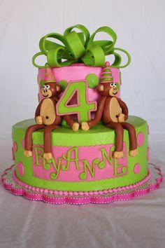 Girly, Fun, Monkey Cake