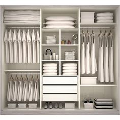 New Ideas For Bedroom Storage Closet Organisation Dressing Rooms Wardrobe Design Bedroom, Master Bedroom Closet, Bedroom Wardrobe, Wardrobe Closet, Closet Space, Master Bedrooms, Wardrobe Organisation, Wardrobe Storage, Closet Storage
