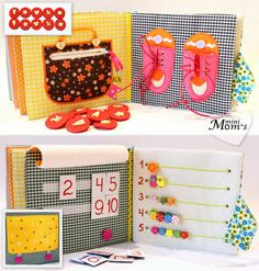 Quiet Book Busy Book Eco friendly educational Toddler от MiniMoms