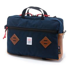 Topo Designs Mountain Briefcase - navy/leather