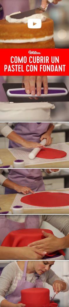 Como cubrir un pastel con fondant - En este video vas a aprender todos los tips necesarios para cubrir un pastel con fondant.
