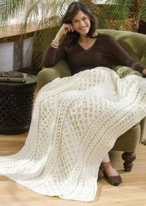 Check out the Lattice Crochet Cable Pattern to make an afghan that will last a lifetime.   | AllFreeCrochetAfghanPatterns.com
