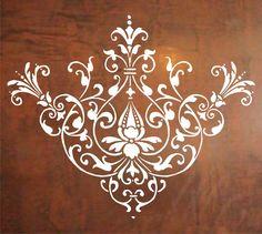 Baroque Design Wall Decal Sticker Graphic Mural Design Modern Art. $24.00, via…