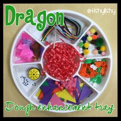 Dragon dough tray Knights And Castles Topic, Early Years Topics, Early Head Start, St Georges Day, Early Years Classroom, Saint David's Day, Museum Education, March Themes, Eyfs Activities