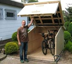 Bike Shed Storage Bike Shed Storage bike shed storage 4 x 2 storage shed garden bench how to make bike shed storage simple. bike shed storage 1000 ideas about bike storage o Diy Projects Plans, Woodworking Projects Diy, Outdoor Projects, Woodworking Plans, Outdoor Decor, Project Ideas, Wood Projects, Woodworking Furniture, Project Board