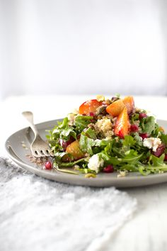 Caramelized Plum and Quinoa Salad with Pomegranate Dressing * #glutenfree
