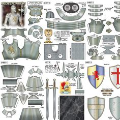 Excited to share this item from my shop: Medieval knight, fantasy paper model Christmas Paper Crafts, 3d Paper Crafts, Paper Toys, Diy Paper, Paper Model Car, Cardboard Model, Free Paper Models, Nerd Crafts, Armadura Medieval