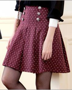 Double Button Woolen Skirt  - $15.99 on @ClozetteCo