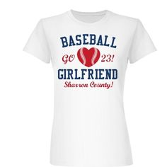 The Baseball Girlfriend Junior Fit Basic Bella Favorite Tee $15.97 #baseball #baseballgirlfriend