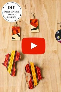 DIY Fabric Covered Wooden Earrings - Montoya Mayo Super easy DIY fabric covered earrings tutorial using scrap fabric. I love that my african wax print fabric scraps don't got to waste. Fabric Earrings, Fabric Beads, Wooden Earrings, Diy Earrings, Fabric Scraps, Scrap Fabric, Diy Ethnic Earrings, Diy Ankara Earrings, Diy African Earrings