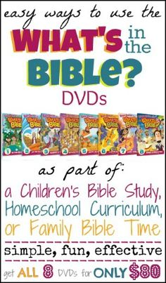 Teaching with What's in the Bible? plus all DVDs only $10 for 1 week - All Our Days