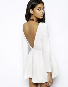 AQ AQ Beat Mini Dress with Low Back and Sleeves