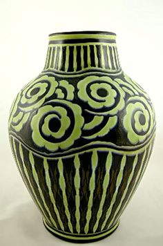 Boch Freres Keramis vase designed by Charles Catteau, circa 1925