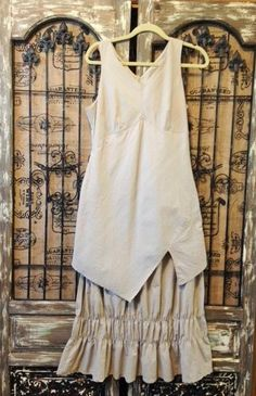 French Ruched Dress Parachute Fabric Layered Sleeveless Lagenlook Euro Size T44 #Unknown #Lagenlook