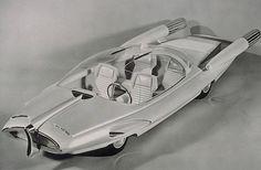 Ford X 2000 – 1958, retro-futuristic car, 50's, retro, futuristic vehicle, concept car