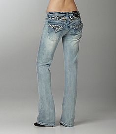 Miss Me Jeans Leather Paisley-Embellished Bootcut Jeans | Di