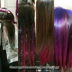 #unicorn #hair #peekaboo #pink